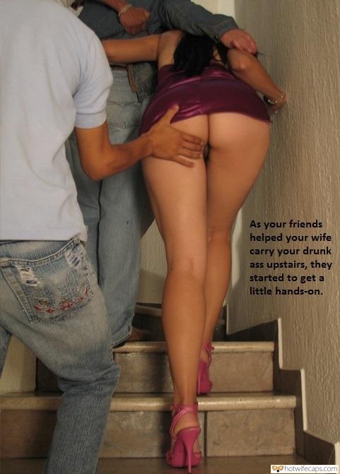 Hot big ass slutwife Friends No Panties Hotwife Caption 2367 Horny Men Get Dirty With Big Ass Stunner