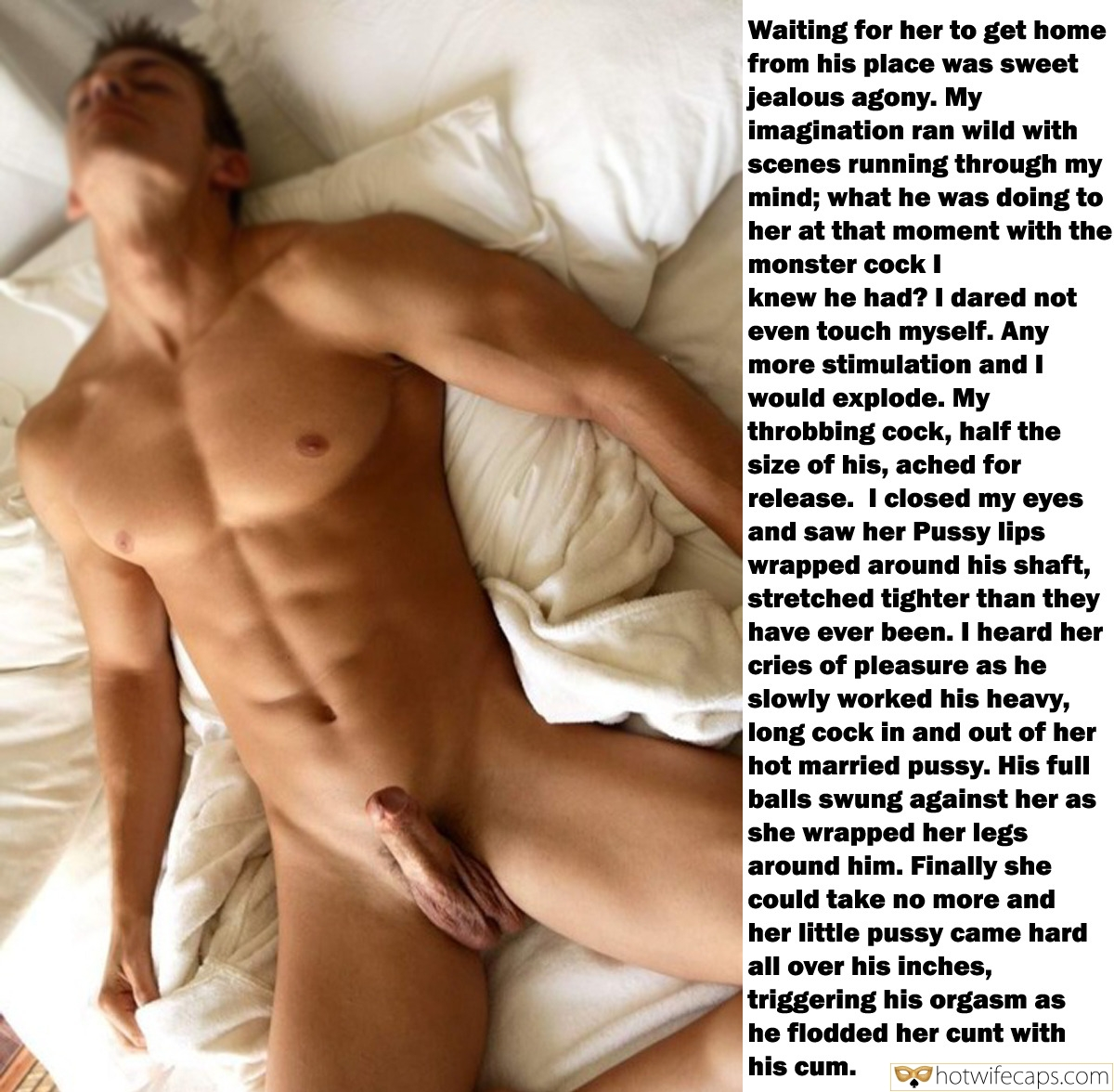 Horny Stallion With Hard Dick Poses Nude in Bed