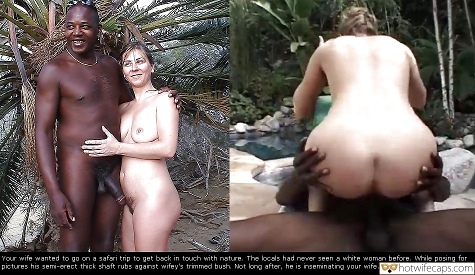BBC Touching My Nudist Wifes Pussy Bush