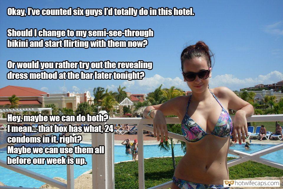 cuckold vacation hotwife cuckold dirty talk hotwife caption Slutwife has a mission on vacation